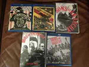 Sons of Anarchy Seasons 1 to 5  3-Blue Ray