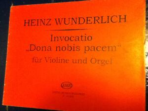"""Partition: Heinz Wunderlich, Invocatio """"Dona nobis pacem"""""""