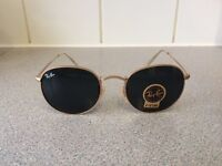 Ray Ban Round Metal Sunglasses RB3447 (gold frame/dark grey lens)