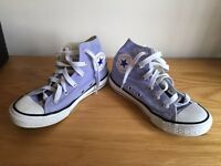 2 Pairs of Converse All Stars. Kids size UK 13.