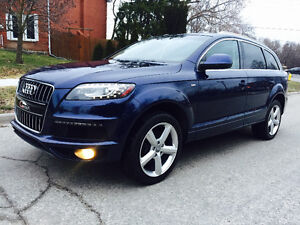 2011 Audi Q7 TDI S-line,top of the line, Navi/Rear view/ 7seater