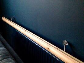 Wood banister stair hand rail new