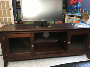 Wood TV stand - entertainment unit