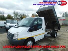 FORD TRANSIT 2.2TDCi 100PS RWD T350 MWB TIPPER CLEAN LOW MILES VAN