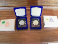 Two Mint 1973 Candian Dollar Coins