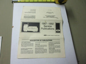 1987-92 FORD SERVICE PUBLICATIONS