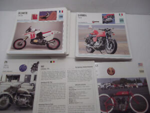 MOTORCYCLE CARDS - MOTO PASSION - OLD - COLLECTIBLE