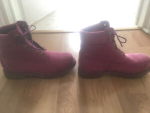 Fuschia Timberlands