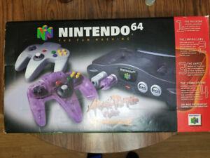 Nintendo 64 in orginal box with av adapter