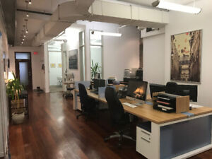Sous-location - Beautiful Old Montreal office for sublet