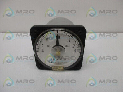 General Electric 50-112402fcad1 Power Factor Meter Used