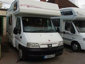 2004 PEUGEOT AUTOQUEST 100 4 BERTH MOTOR HOME