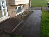 Concrete walkways and patios
