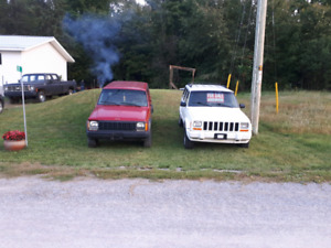 Two jeep cherokees for sale 1250 OBO