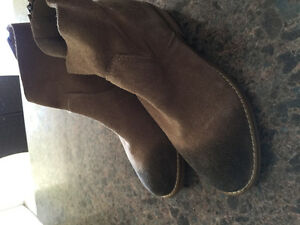 New, never worn, leather booties, fits like a size 6