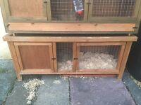 2 4 ft rabbit hutches.