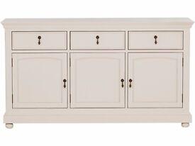 Ex-Display Schreiber Longburton 3 Drawer Sideboard - Cream