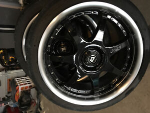 Motegi FF7 18 inch rims and tires