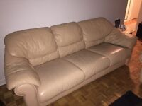 Leather couch set 3 pcs