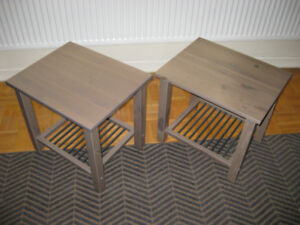 End table. Coffee table. Side table. Nite Stand. Pair. $40.