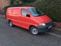 Toyota hiace compact/ power/ lwb vans wanted