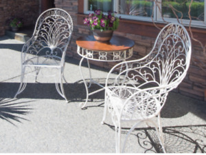 Table and two chairs-outdoor patio furniture