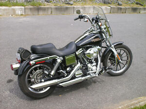 Harley Low Rider full chrome Bas kilométrage