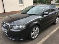 07 AUDI A3 2.0TDI (170) S LINE 6 SPEED FSH 5 DOOR