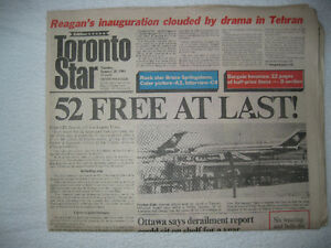 HISTORIC NEWSPAPERS-Iran frees hostages