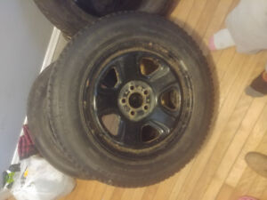Winter studded tires 225 60 18 inchs