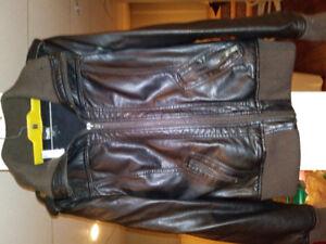 Manteau simili cuir pour femme