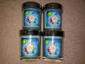 4 PACK Air Wick Scented Candle LIFE SCENTS Turquoise Oasis 141g
