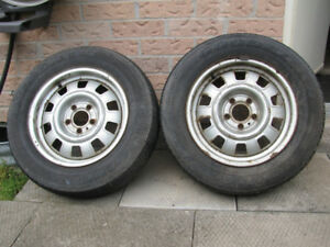 Volvo 142 144 164 steel rims with tires 15in