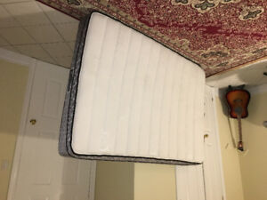 Double bed mattress only (Sealy Spring Free) almost new for 70 $