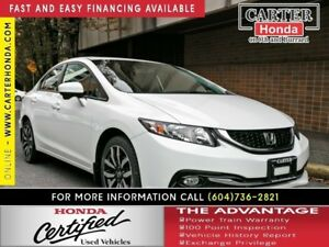 2015 Honda Civic Touring + CERTIFIED 7YR WARRANTY!