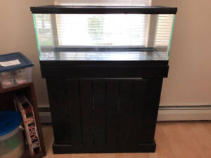 20 Gallon Aquarium/Tank with Stand and Cleaning Supplies