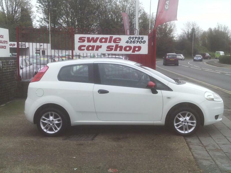 2009 09 Reg Fiat Grande Punto 1.4 8v Active 3 Door White ONLY 51000 MILES