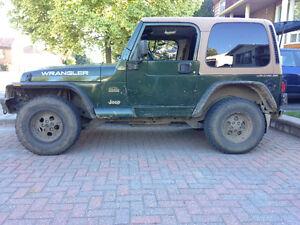 1998 Jeep Wrangler TJ Sahara VUS