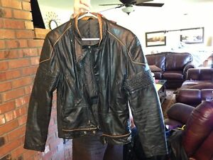 mens small leather jacket