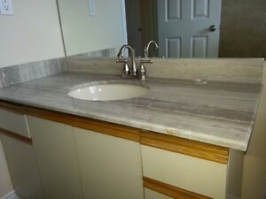 granite vanity top with sink and faucet