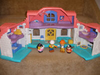 Little people house with figures