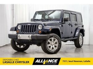 2013 Jeep Wrangler Unlimited Sahara I Lift KIT   Cuir   Sieges C