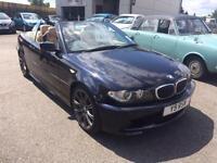 BMW 330 3.0TD 2005 55 Reg Cd Sport Convertible