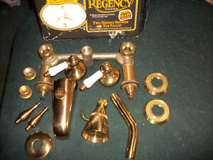 SOLID BRASS TWO HANDLE  SHOWER AND TUB  FAUCET London Ontario image 1