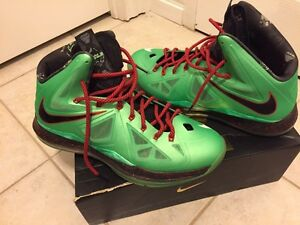 Lebron James 10 Shoes Green Grass Size 13