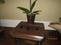 Zen stool, Wood Bench,Leather Couch,Carpet,Plant....more