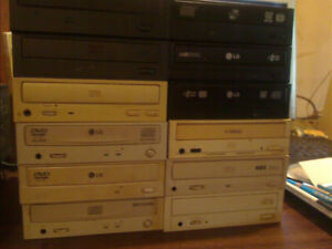 CD and DVD Roms and DVD Writers reg and sata 5 $ each