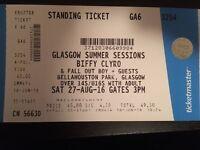 Biffy Clyro + Fall Out BoyTickets. Glasgow Summer Sessions. X 2