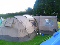 8 man tent with porch and all equipment
