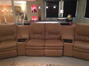 lovely home theatre leather sofa for sale